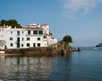 Biały budynków Cadaques Costa Brava obraz royalty free