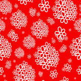 Biały bukiet czerwony tło Zdjęcie Royalty Free