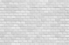 Biały ceglany kamiennej ściany bezszwowy tło Zdjęcia Stock