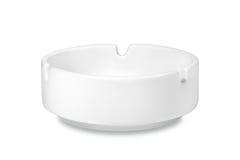 Biały ceramiczny ashtray fotografia royalty free