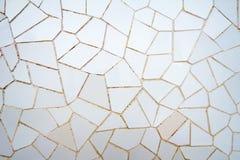Biały ceramiczny mozaika wzór w parkowym Guell obraz royalty free