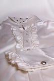 Biały chemise bielu tło Obrazy Royalty Free
