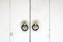 Biały chiński drzwi Obrazy Royalty Free