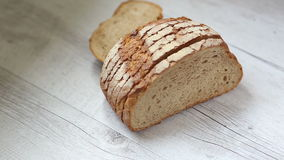 biały chleb w plastrach zdjęcie wideo