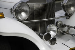 Biały chrom limuzyny przodu szczegół Fotografia Royalty Free