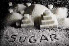 Biały cukier obraz royalty free