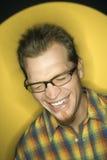 biały człowiek się śmieje Fotografia Royalty Free