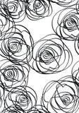 biały czarny róże ilustracji
