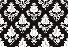 biały czarny tło 2 kwiatu Obrazy Royalty Free