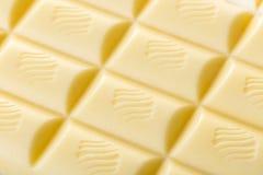 Biały czekoladowy tekstury zbliżenie Zdjęcia Stock