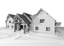 biały dom drewniane royalty ilustracja