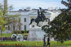Biały dom w washington dc 7, 2017 - widok od Lafayette kwadrata - washington dc KOLUMBIA, KWIECIEŃ - Obraz Royalty Free