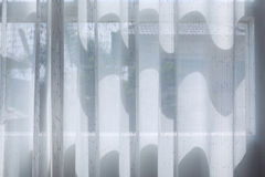 Biały draperii zasłony obwieszenie na okno Zdjęcia Stock