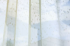 Biały draperii zasłony obwieszenie na okno Fotografia Royalty Free