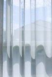 Biały draperii zasłony obwieszenie na okno Obrazy Royalty Free