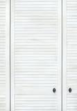 Biały drewniany drzwi Zdjęcie Stock