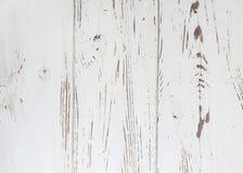 Biały drewniany tekstury tło Zdjęcia Royalty Free
