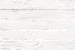 Biały drewniany tekstury tło Fotografia Stock