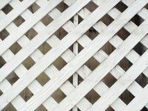 Biały drewno lath ściana obraz royalty free