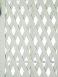 Biały drewno lath ściana zdjęcie royalty free