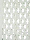 Biały drewno lath ściana obrazy royalty free