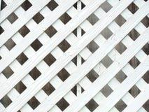 Biały drewno lath ściana obraz stock