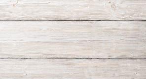 Biały drewno Zaszaluje teksturę, Drewniany Stołowy tło Fotografia Stock
