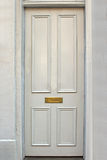 Biały drzwi Obrazy Royalty Free