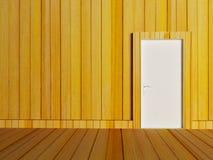 Biały drzwi w pustym pokoju ilustracja wektor