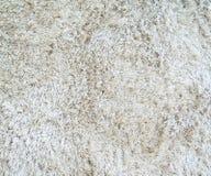 Biały dywan z długim stosem fotografia stock