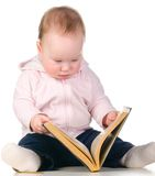 Biały dziecko książka   Zdjęcia Royalty Free