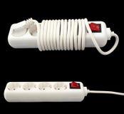 Biały elektryczny rozłupnik odizolowywający nad ciemnym tłem royalty ilustracja
