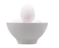 biały filiżanek jajka Zdjęcia Stock
