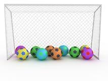 Biały futbolowy cel -9 Zdjęcia Stock