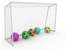 Biały futbolowy cel -8 Fotografia Stock