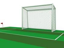Biały futbolowy cel -2 Obrazy Stock