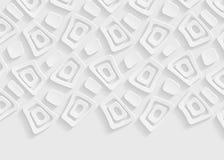 Biały geometryczny papierowy abstrakcjonistyczny tło ilustracja wektor