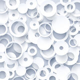 Biały geometryczny szablon ilustracji