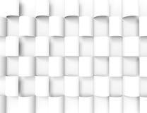 Biały geometryczny texture.3d tło Fotografia Stock