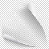 Biały gradientu papieru kędzior Zdjęcie Royalty Free