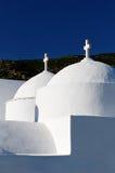 Biały Grecki kościół zdjęcia stock
