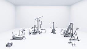 Biały Gym Zdjęcia Stock