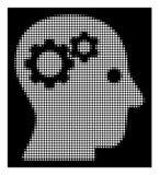 Biały Halftone intelekt Przygotowywa ikonę ilustracji