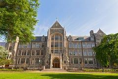 biały Hall uniwersytet georgetown, washington dc, usa obrazy royalty free