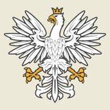 Biały heraldyczny orzeł Fotografia Royalty Free
