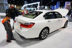 Biały Honda ono Zgadza się Obrazy Royalty Free