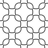 Biały i czarny geometryczny ornament bezszwowy wzoru ilustracji