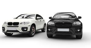 Biały I Czarny SUV zdjęcia stock