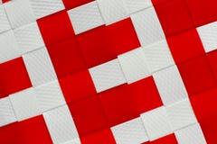 Biały i czerwony koszykowy tekstury tło zdjęcie royalty free