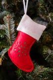 Biały i Czerwony pończocha ornament Obrazy Stock